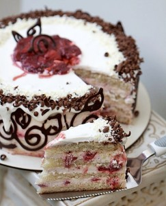 Quark Mousse Cake with Roasted Balsamic Strawberries