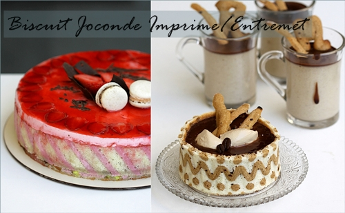 Biscuit Joconde Imprime/Entremet
