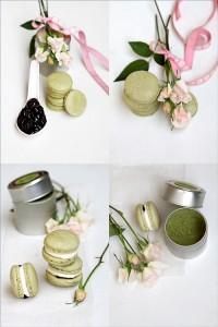 Matcha Macarons with Mascarpone Cherry Filling 10