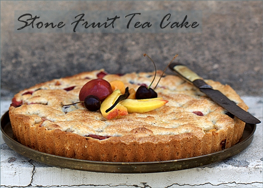 Stone Fruit Tea Cake