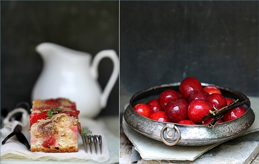 German Plum Cake (Pflaumenkuchen) With Ricotta & Fresh Thyme