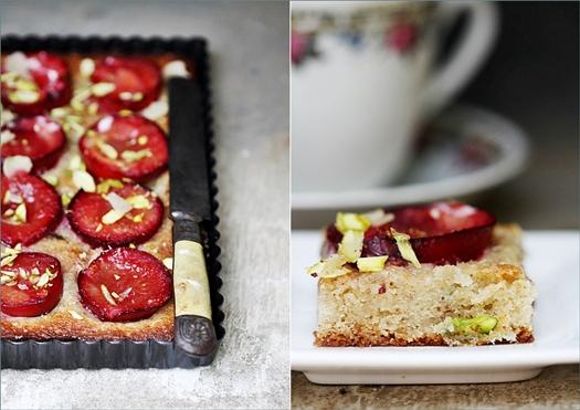 Plum Almond Ginger Summer Fruit Cake