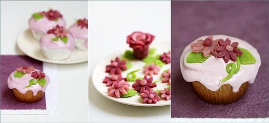 Paint-it-Purple Vanilla Bean Cupcakes