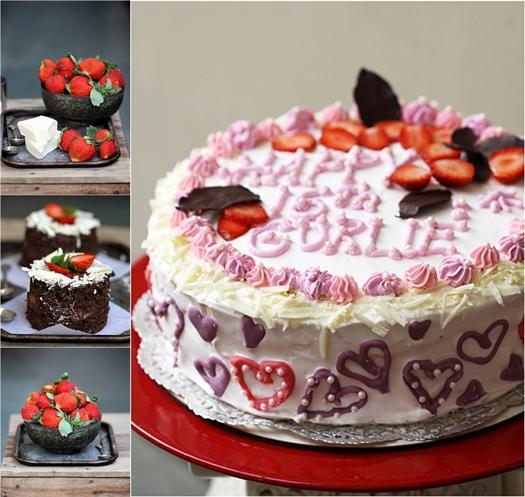 Dark Chocolate & Strawberry Mini Cloud Cake
