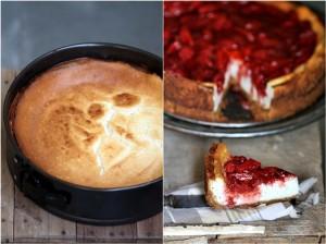 Vanilla Quark Cheesecake with Balsamic Roasted Strawberries