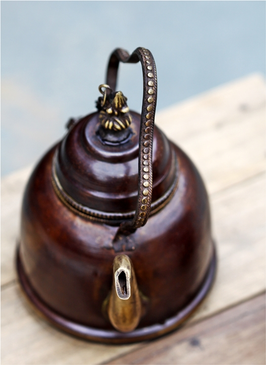 Brass teapot, Old Delhi