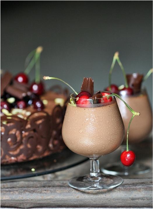Dark Chocolate Mousse.