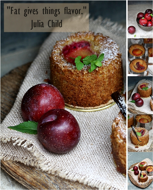 Oven Roasted Plum & Almond Cakes