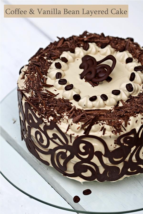 Baking   Coffee & Vanilla Bean Layered Cake ...Happy ...