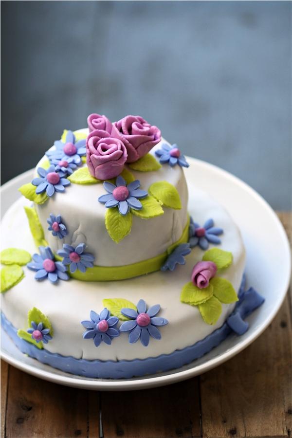 Tea Rose Fondant Cake  8