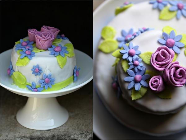 Tea Rose Fondant Cake