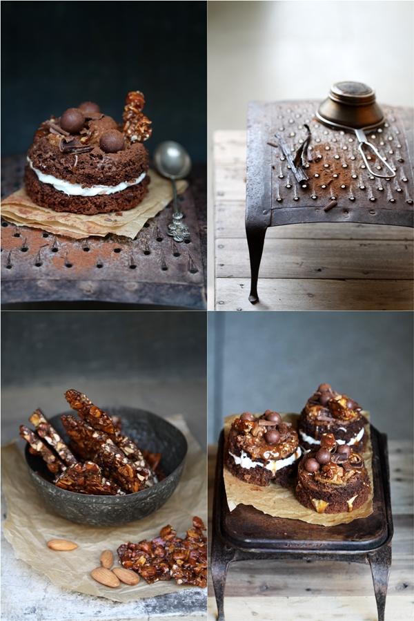 Irish Creme Chocolate Cakes with an Irish Creme Caramel Sauce