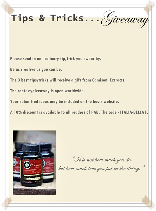 Camisoni Extracts Giveaway