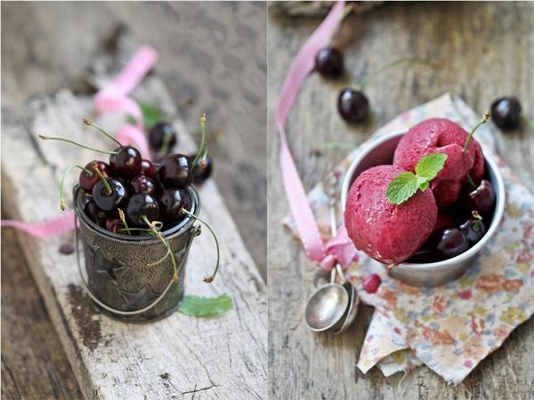 Fresh Cherry Frozen Yogurt