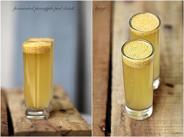 fermented pineapple peel drink ...'kanji'