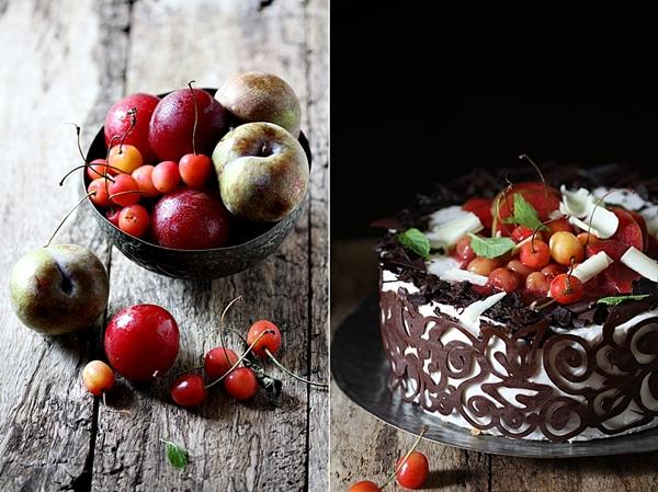 Stone Fruit & Quark Cream Cake