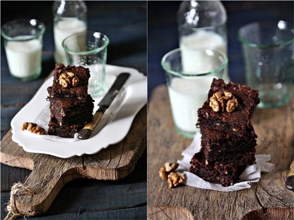 Dark chocolate amaranth brownies gluten free