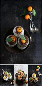 Kumquat Quark Cheesecake in jars