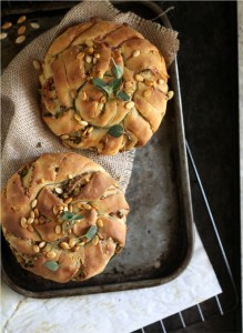 Twisted Buns; bread art with the Daring Bakers