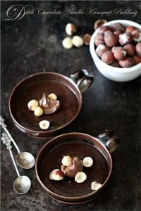 Dark Chocolate Nutella Kumquat Pudding {GF Eggless}