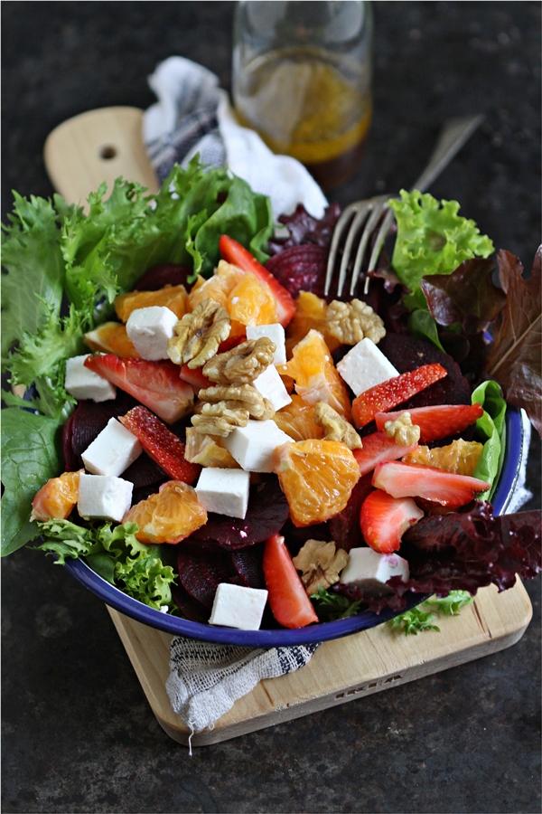 Summer Salad with orange vinaigrette