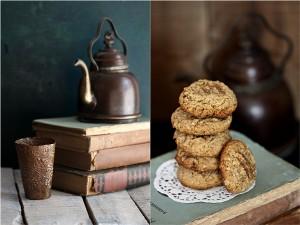 Amaranth Oat Walnut Ginger Cookies