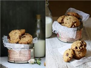 Eggless Almond Honey Wholegrain Cookies