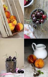 Peaches and cherries