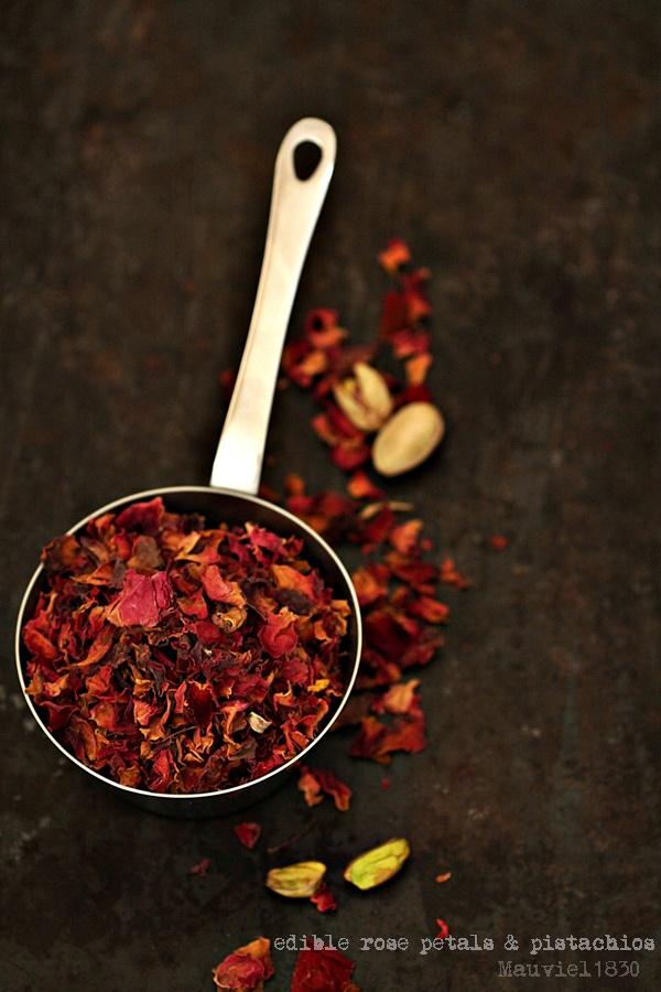 edible rose petals & pistachios Mauviel1830