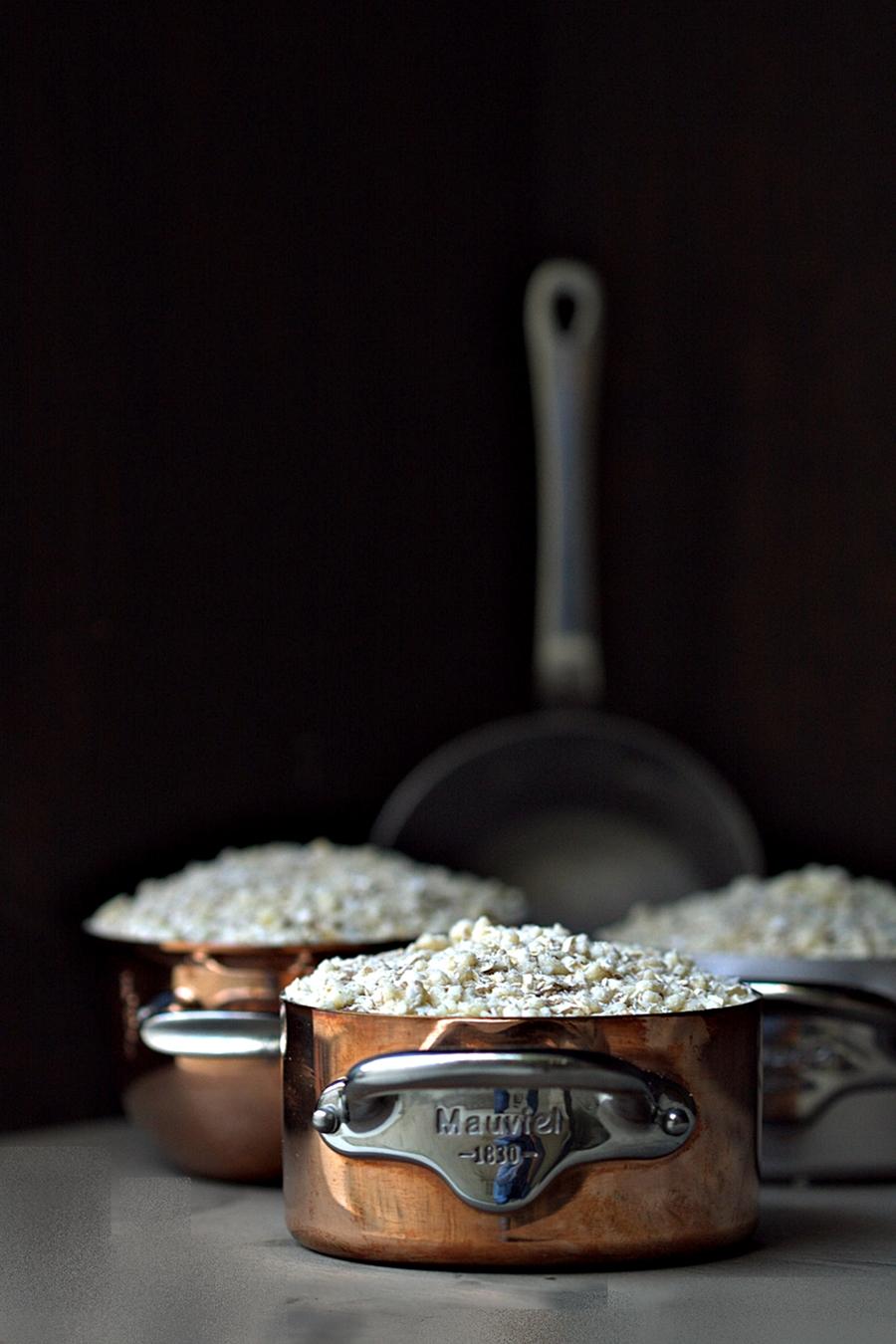 Apple & Pear Crumble in Mauviel1830 copperware