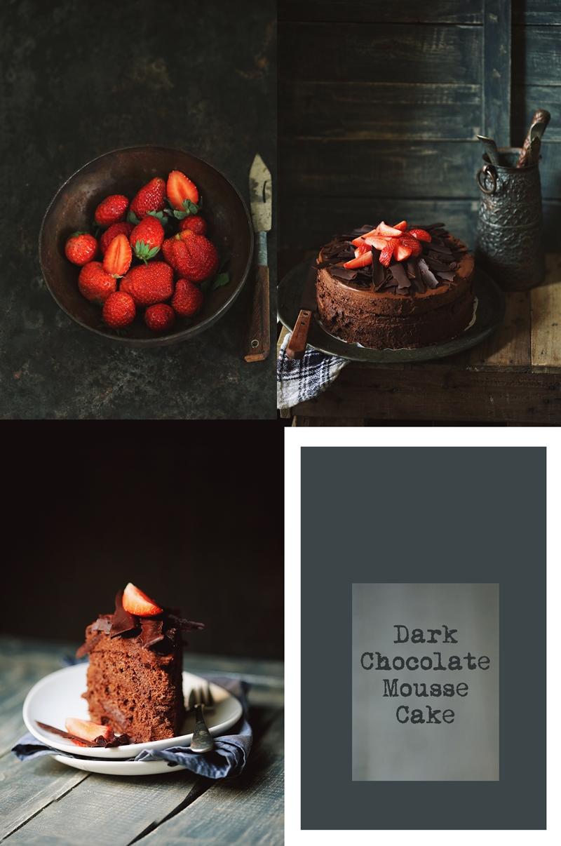 Dark Chocolate Mousse Cake