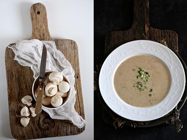 Mushroom Walnut Oats Soup