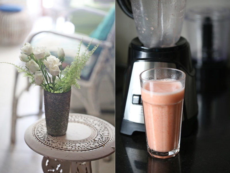 Guava, Strawberry, Lychee Smoothie