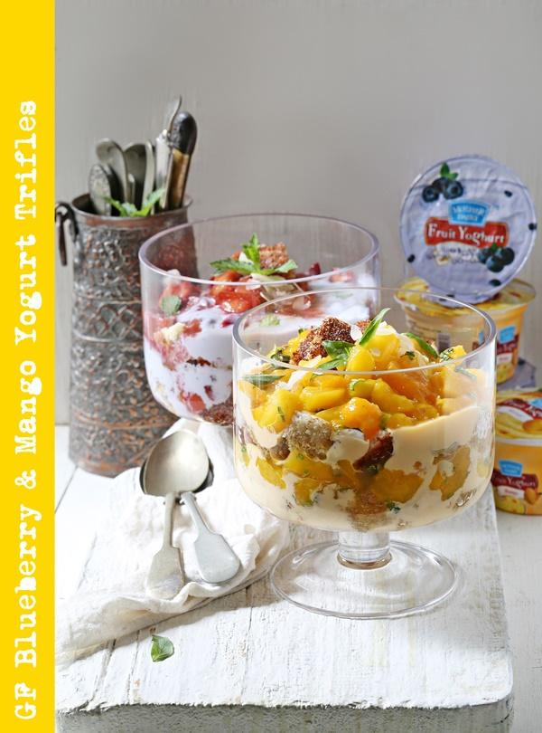 GF Blueberry & Mango Yogurt Trifles