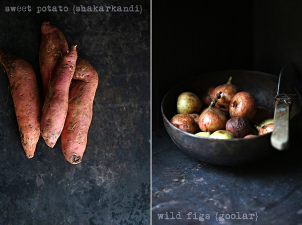 Autumn produce - Sweet Potato, Wild figs