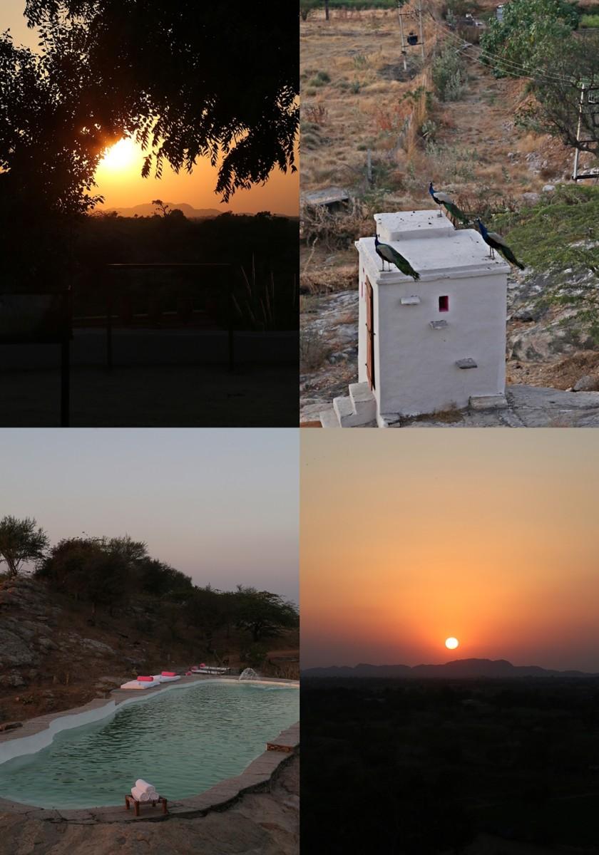 Sunset, Lakshman Sagar, Rajasthan
