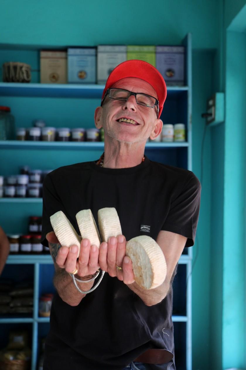 Caciotta by Emilio Marconi, Artisan cheese, Banaras 2016